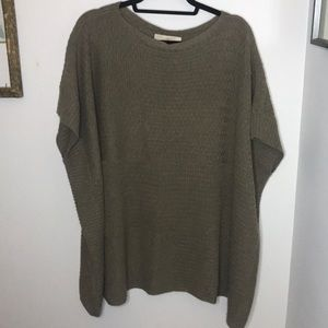 Loft Gray Green Popover Poncho OS Sweater